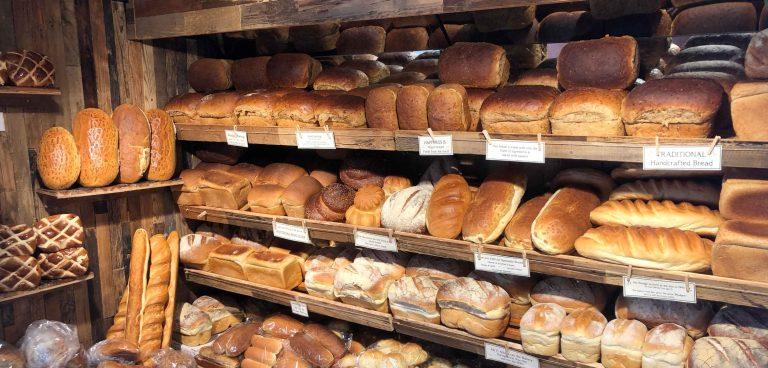 Display of Bread at Wedges Bakery Hockley Heath